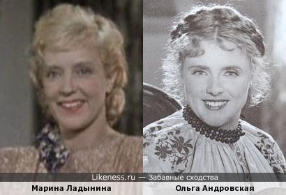 Марина Ладынина и Ольга Андровская