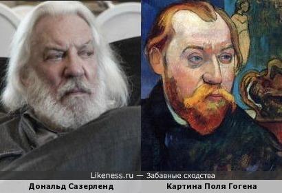 Дональд Сазерленд и портрет Луи Руа - Поль Гоген