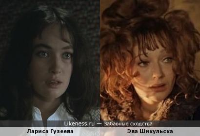 Лариса Гузеева и Эва Шикульска