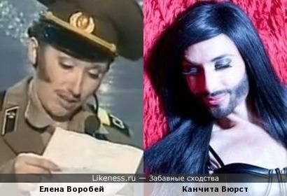 Елена Воробей и Канчита Вюрст
