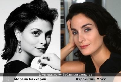 Морена Баккарин и Кэрри-Энн Мосс