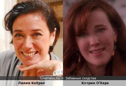Лилия Кабрал и Кэтрин О'Хара
