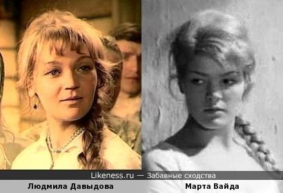 Людмила Давыдова и Марта Вайда