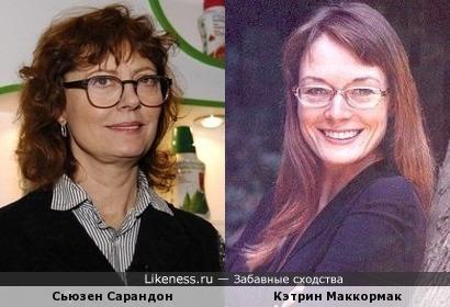 Сьюзен Сарандон и Кэтрин Маккормак