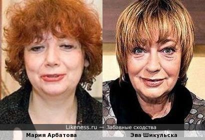 Мария Арбатова и Эва Шикульска