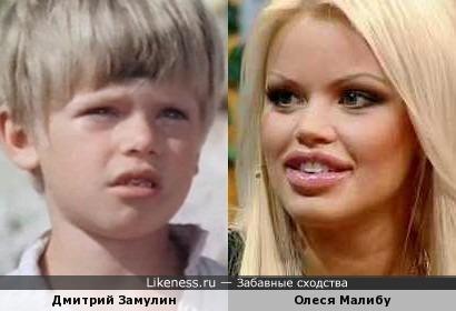 Дмитрий Замулин и Олеся Малибу