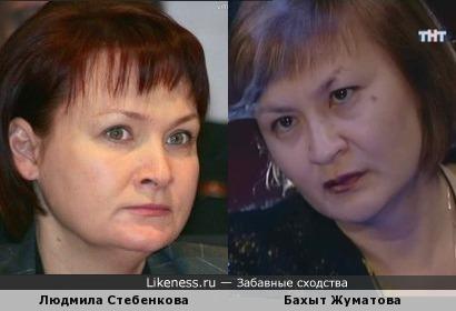 Людмила Стебенкова (Депутат) и Бахыт Жуматова (Битва экстрасенсов)