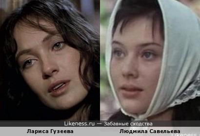 Лариса Гузеева и Людмила Савельева