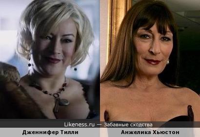 Дженнифер Тилли и Анжелика Хьюстон