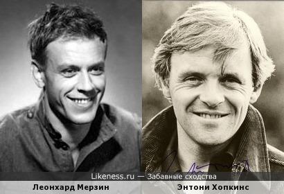 Леонхард Мерзин и Энтони Хопкинс