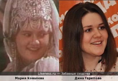 Мария Ковалева и Дина Гарипова