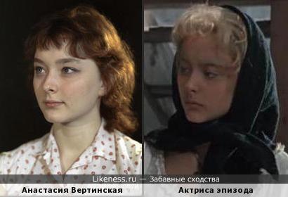 """Анастасия Вертинская и актриса эпизод. роли из фильма """"Человек-амфибия"""""""