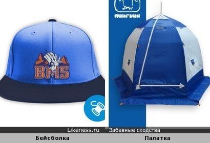 Бейсболка и палатка