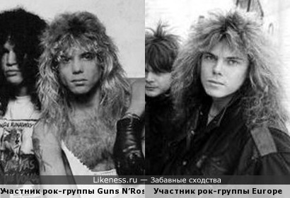 Участники рок-групп Guns N'Roses и Europe