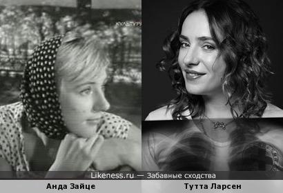 Тутта Ларсен и Анда Зайце