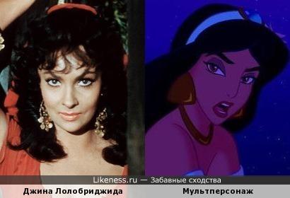 Джина Лолобриджида и мультперсонаж