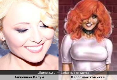 Анжелика Варум и персонаж комикса