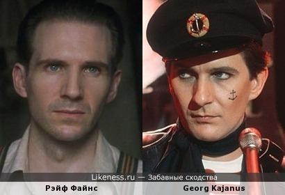 "Рэйф Файнс и Georg Kajanus (гр. ""SAILOR"")"