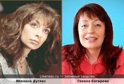 Иллеана Дуглас и Галина Багирова