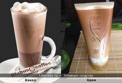 Какао и крем
