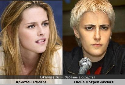 Кристен Стюарт и Елена Погребижская