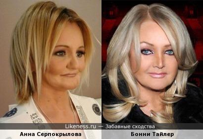 Пациентка пластики на ТВ Анна Серпокрылова и Бонни Тайлер