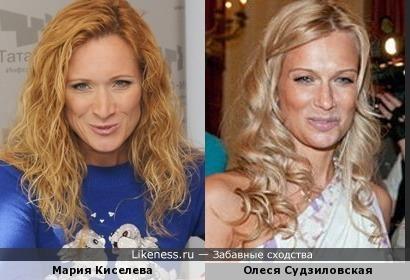 Мария Киселева и Олеся Судзиловская