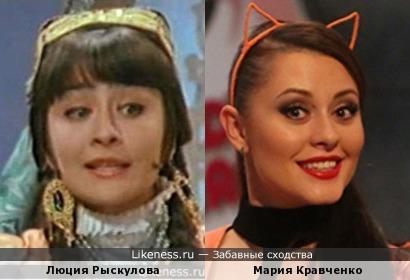 Люция Рыскулова и Мария Кравченко