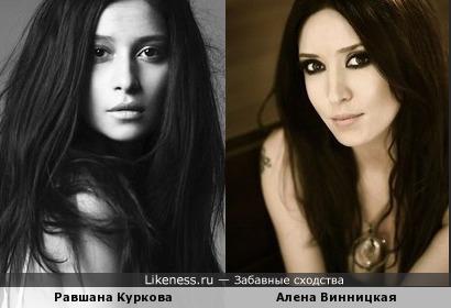 Алена Винницкая и Равшана Куркова