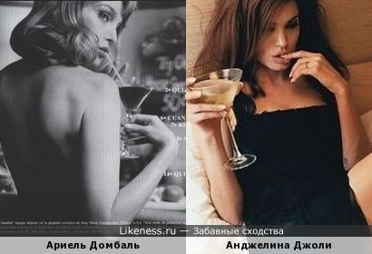 Ариель Домбаль и Анджелина Джоли