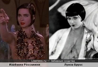 Изабелла Росселини и Луиза Брукс