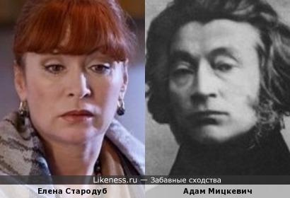 Елена Стародуб и Адам Мицкевич