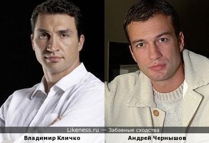 Владимир Кличко и Андрей Чернышов похожи