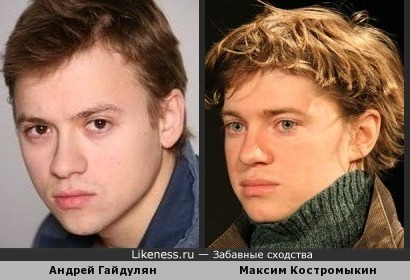 Андрей Гайдулян и Максим Костромыкин похожи