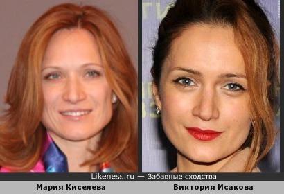 Мария Киселева и Виктория Исакова похожи