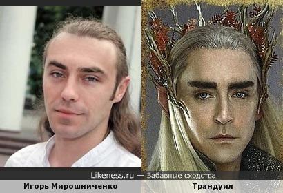 Украинский депутат Игорь Мирошниченко похож на Трандуила