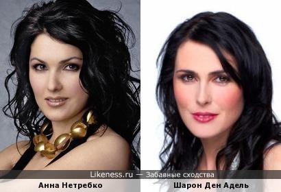 Анна Нетребко и Шарон День Адель похожи