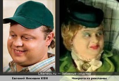 Евгений Никишин похож на рекламную Мокроту