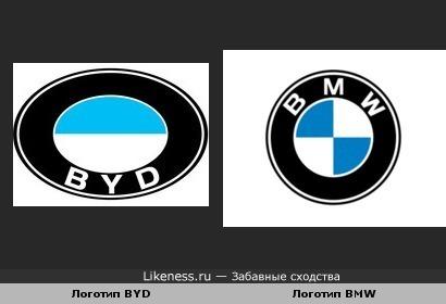 Логотип BYD похож на логотип BMW