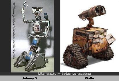 Робот Валли передвижением, характером и чем-то еще похож на робота Джонни 5