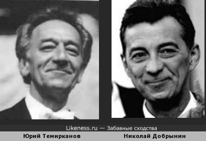 Юрий Темирканов и Николай Добрынин