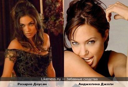 Розарио Доусан похожа на Джоли