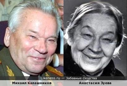 Михаил Калашников похож на Анастасию Зуеву