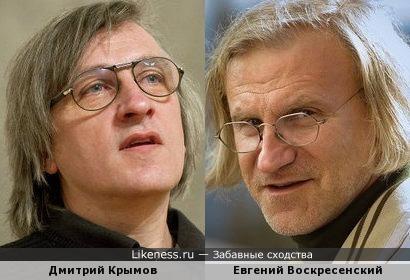 Дмитрий Крымов похож на Евгения Воскресенского