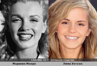 Эмма Уотсон чем-то похожа на Мэрилин Монро