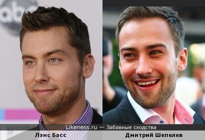 Лэнс Басс ('N Sync) и Дмитрий Шепелев