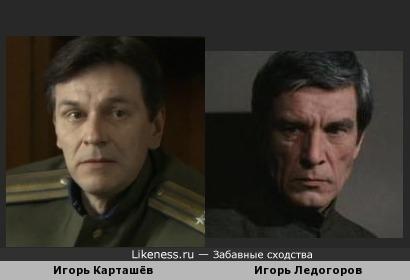 Игорь Карташёв похож на Игоря Ледогорова