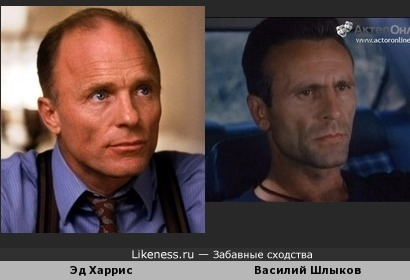 Эд Харрис похож на Василия Шлыкова