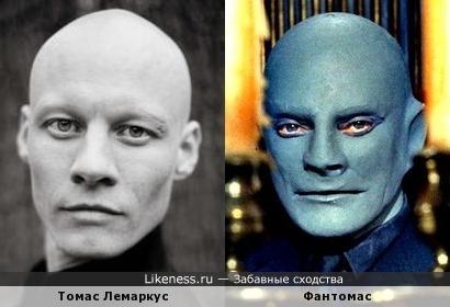 Томас Лемаркус похож на фантомаса