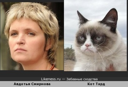 Авдотья Смирнова похожа на кота Тарда